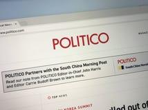 Homepage av politicoen Arkivbild