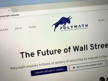 Homepage av polymathen arkivbild