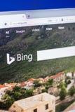 Homepage Bing bing - wyszukiwarki usługa na pokazie pecet, sieć adres - Ryazan Rosja, Marzec - 01, 2018 - com Obrazy Royalty Free