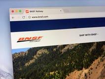 Homepage BNSF Kolej Firma zdjęcie royalty free