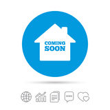 Homepage coming soon icon. Royalty Free Stock Images