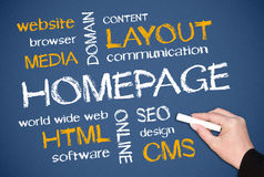Homepage concept stock image