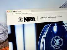 Homepage da associação de rifle nacional do NRA de América imagem de stock