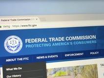Homepage da Comissão Federal do Comércio, FTC fotografia de stock royalty free