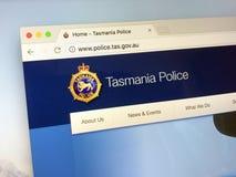 Homepage da força policial de Tasmânia Fotografia de Stock
