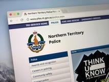 Homepage da força policial do Território do Norte Imagem de Stock Royalty Free
