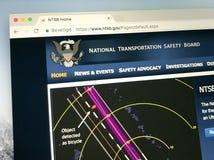 Homepage da Junta Nacional de Segurança do Transporte - NTSB Fotos de Stock Royalty Free
