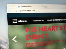 Homepage de Abbott Laboratories Fotografía de archivo libre de regalías