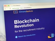 Homepage de ChronoBank Fotos de Stock Royalty Free