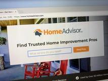 Homepage de HomeAdvisor Fotografía de archivo libre de regalías
