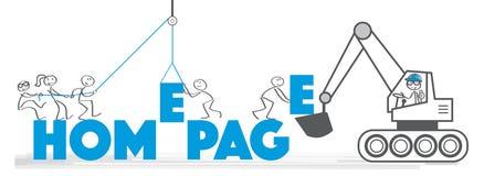 Homepage de la bandera - bajo construcción libre illustration