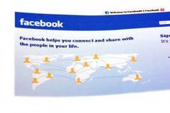 Homepage de la communauté de Facebbok Images libres de droits