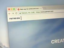 Homepage de Patreon Fotos de Stock