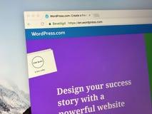 Homepage de Wordpress Fotos de Stock Royalty Free