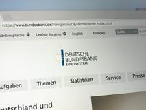Homepage del Deutsche Banca federale Immagini Stock Libere da Diritti