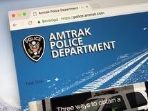 Homepage del dipartimento di polizia APD dell'Amtrak Immagine Stock