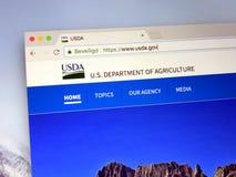 Homepage del ministero dell'agricoltura degli Stati Uniti Fotografie Stock Libere da Diritti
