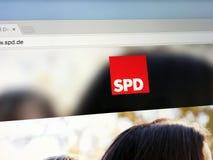 Homepage del Partido Democrático Social de Alemania foto de archivo libre de regalías