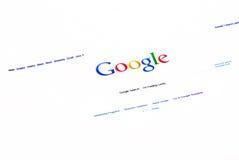 Homepage del searh del Google immagine stock