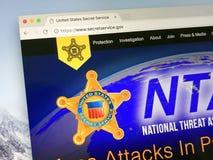 Homepage del servizio segreto degli Stati Uniti Fotografie Stock