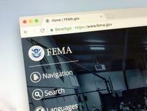 Homepage dell'agenzia federale della gestione delle emergenze - FEMA Immagini Stock Libere da Diritti
