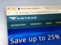 Homepage dell'Amtrak Fotografia Stock Libera da Diritti