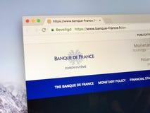 Homepage della Banca della Francia Fotografia Stock Libera da Diritti