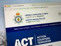 Homepage della polizia del nord di Galles Fotografia Stock