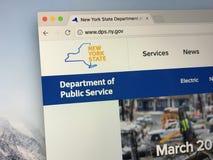 Homepage der Staat New York-Abteilung des öffentlichen Diensts Stockfoto
