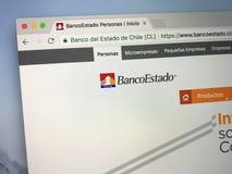 Homepage di BancoEstado Fotografia Stock Libera da Diritti