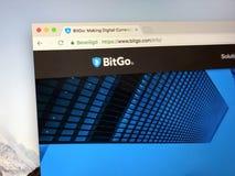 Homepage di BitGo Fotografia Stock