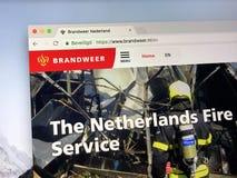 Homepage do corpo dos bombeiros holandês Foto de Stock Royalty Free