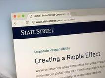 Homepage do corporaçõ de State Street, Fotografia de Stock Royalty Free