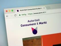Homepage do oficial da autoridade holandesa para os consumidores e os mercados - ACM fotos de stock
