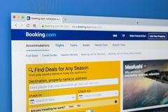 Homepage do Web site oficial para registrar com O Web site em linha o mais grande para salas de hotel de registro em linha imagem de stock