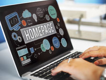 Homepage Domain HTML Web Design Concept Stock Images
