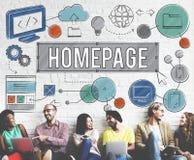 Homepage Domain HTML Web Design Concept vector illustration
