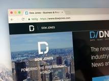 Homepage Dow Jones Industrial Averages - Des DJIAs stockbilder