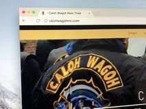 Homepage of Dutch motorclub Caloh Wagoh MC Main Triad. Amsterdam, the Netherlands - June 29, 2018: Website of Dutch one-percenter chapter motorclub Caloh Wagoh royalty free stock image