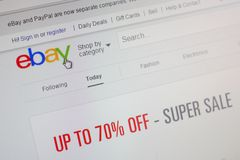 Homepage of Ebay.com Stock Images