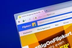 Homepage Flipkart strona internetowa na pokazie pecet, url - flipkart Ryazan Rosja, Kwiecień - 16, 2018 - com Obraz Stock