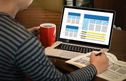 HOMEPAGE Global Address Browser Internet Website Design Software Stock Image