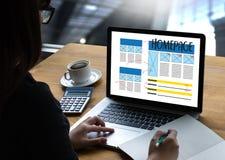 HOMEPAGE Global Address Browser Internet Website Design Software Stock Photo