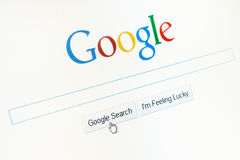 Homepage Google.com Arkivbilder