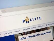 Homepage Holenderska policja narodowa zdjęcie stock