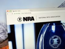 Homepage of The National Rifle Association of America NRA. Amsterdam, the Netherlands - September 12, 2018: Website of The National Rifle Association of America stock image