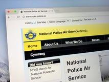 Homepage polici narodowa Lotnicza usługa - NPAS Obrazy Stock