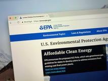 Homepage Stany Zjednoczone agencja ochrony środowiska EPA lub obraz royalty free