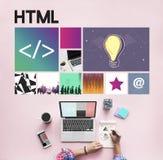 Homepage strona internetowa Koduje Komputerowej networking technologii pojęcie Fotografia Royalty Free