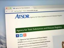 Homepage U S Agencja dla Toksycznych substancj i choroby archiwum - ATSDR zdjęcie stock